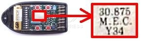 Telecommande TELCOMA FOX4-30 a 4 boutons