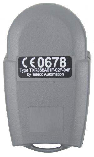Telecommande TOUSEK RS433-TXR2-MINI a 2 boutons