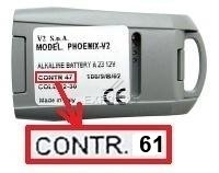 Telecommande V2 PHOENIX CONTRAT 61 4CH a 4 boutons