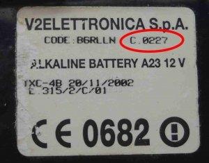 Telecommande V2 TSC4 CONTRAT 227 a 4 boutons