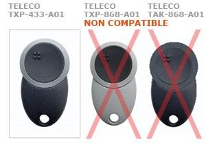 Telecommande TELECO TXP-433-A01 a 1 boutons