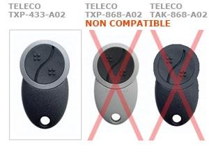 Telecommande TELECO TXP-433-A02 a 2 boutons