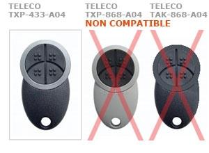 Telecommande TELECO TXP-433-A04 a 4 boutons