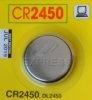Piles CR2450 LITHIUM 3V-600MAH pour télécommandes de portail et garage