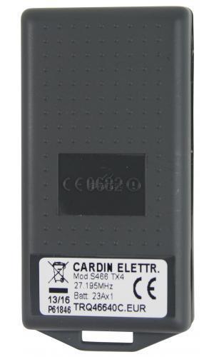 Telecommande_abbrégé CARDIN S466-TX4 a 4 boutons