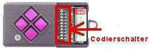 Telecommande_abbrégé DICKERT MAHS433-04 a 4 boutons