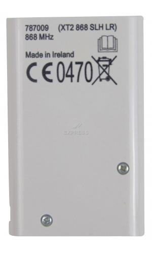 Telecommande_abbrégé FAAC XT2 868 SLH a 2 boutons