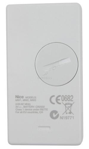 Telecommande_abbrégé NICE ERA MW1 a 3 boutons