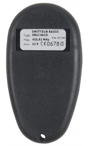Telecommande_abbrégé PROEM ER4C4 ACD a 4 boutons