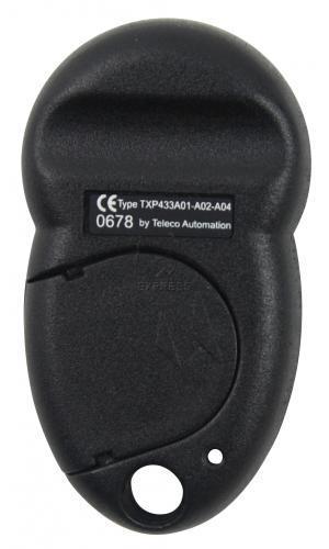 Telecommande_abbrégé TELECO TXP-433-A02 a 2 boutons
