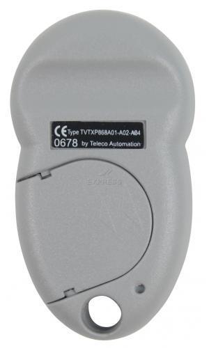 Telecommande_abbrégé TELECO TVTXP-868-A02 a 2 boutons