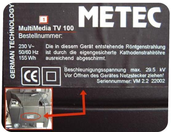 znajdowanie oznaczenia telewizora