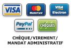 4 modes de paiement s�curis�s : CHEQUE/VIREMENT/MANDAT ADMINISTRATIF