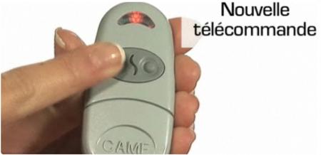 Indiquez quel bouton de la télécommande va être programmé en appuyant dessus.