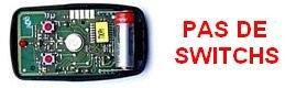 TELECOMMANDE NICE FLO2-R:intérieur du boîtier, cette gamme ne comporte pas de switchs