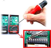 Copier la séquence des positions depuis l'ancienne télécommande dans la nouvelle télécommande